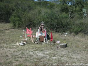 A roadside shrine to the Gauchito Gil