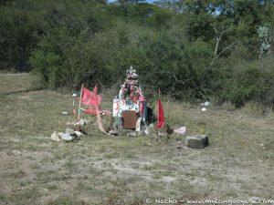 A roadside shrine to the Gauchito Gil
