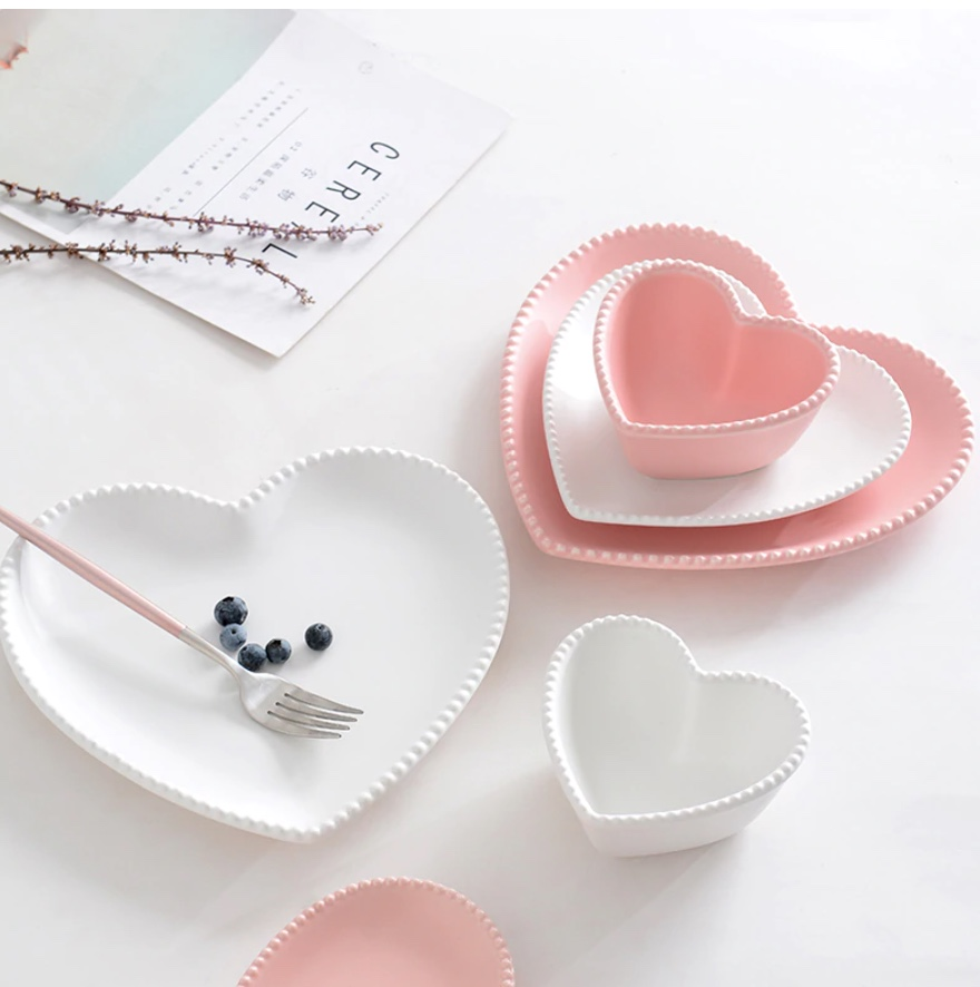vaisselle coeur