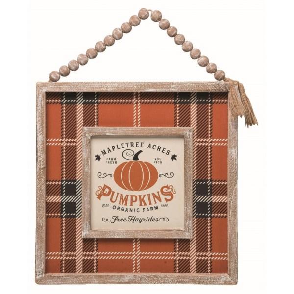 panneau décoratif pumpkin orange