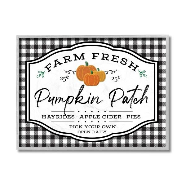 panneau pumpkin patch buffalo check