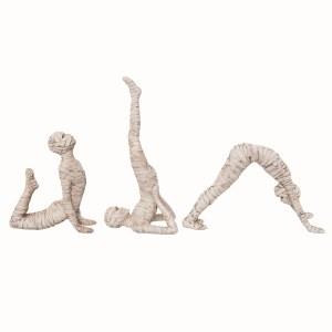 momies en position de yoga Halloween
