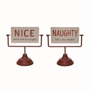panneau réversible nice naughty pour noel holidays