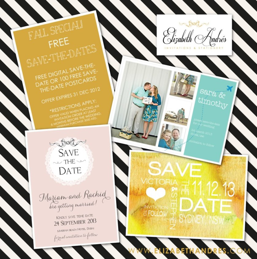 Elizabeth Andres… FREE Save the Dates!