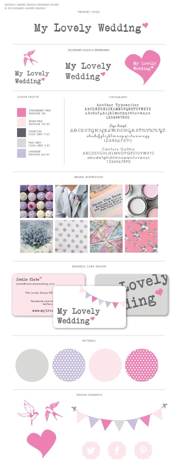 Elizabeth Andres & Wedding Branding ♥