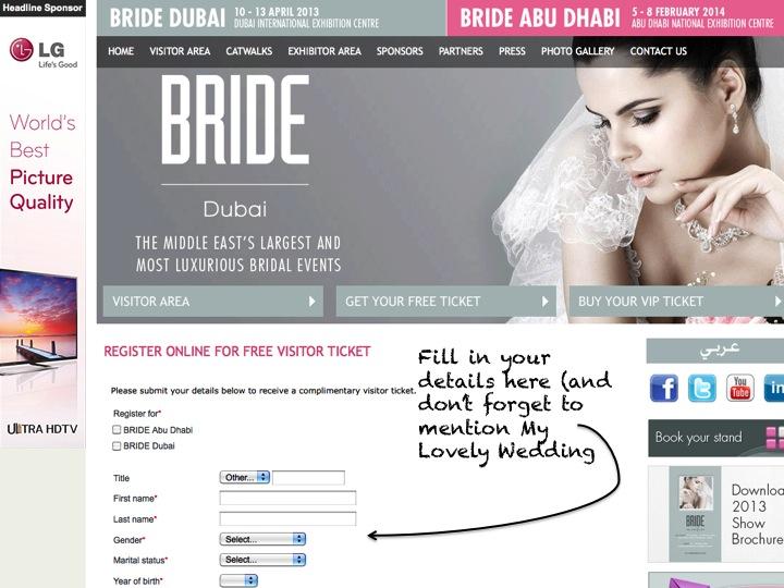 FREE TICKETS FOR BRIDE DUBAI!!!!