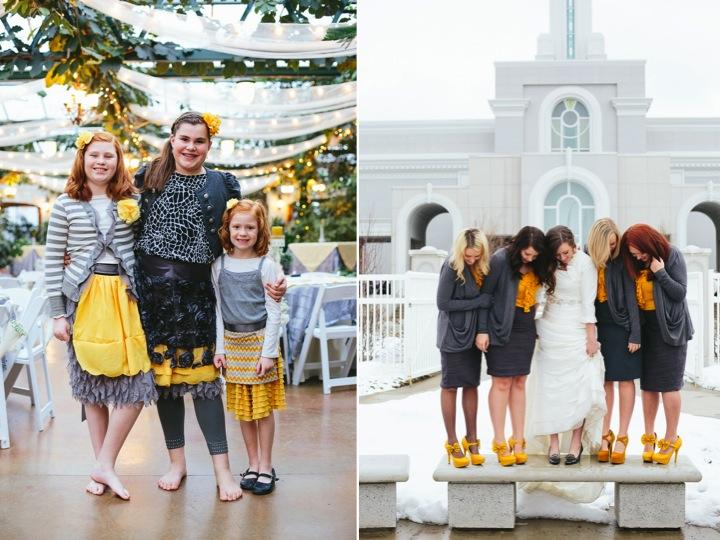 A mustard yellow & grey winter wedding ♥