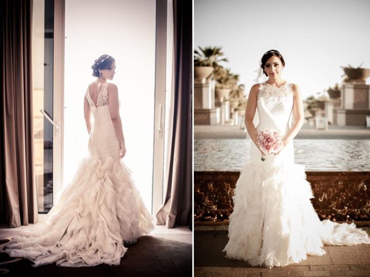 The bride wore Vera Wang & Diamonds ♥
