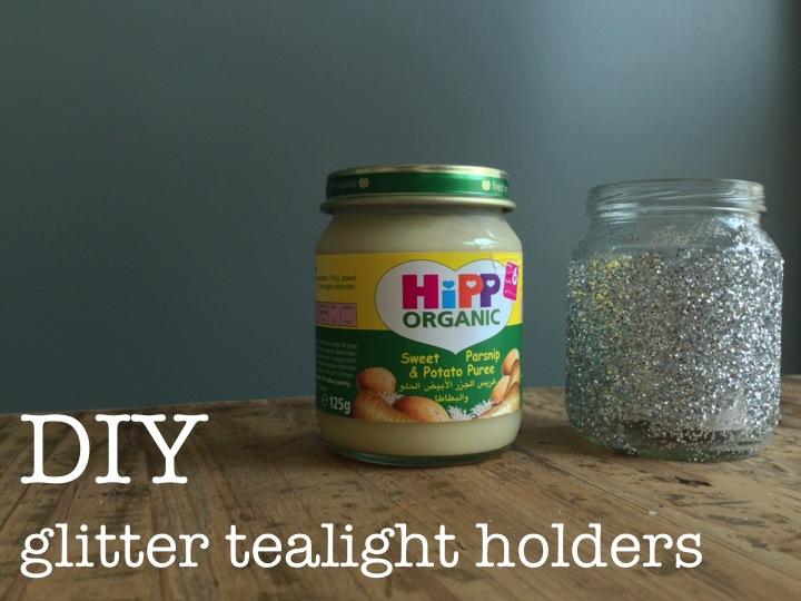 DIY GLITTER TEALIGHT HOLDERS ♥