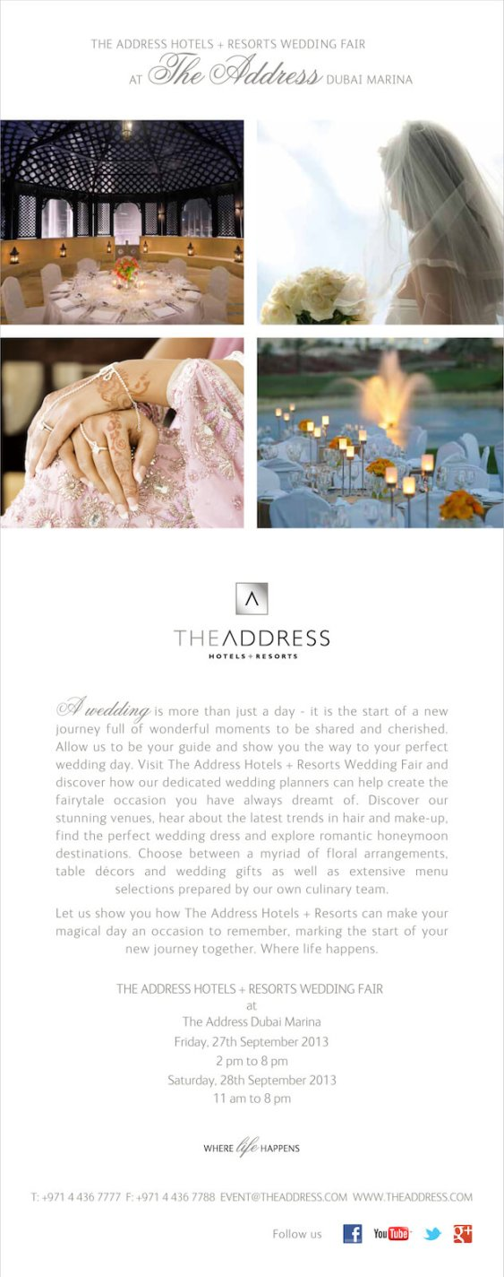 The Wedding Fair - The Address Hotels