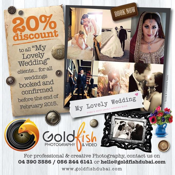 Wedding discounts for MLW readers. Dubai wedding photographer