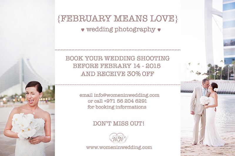 30% off for MLW readers if you book before Valentines day – Women in Wedding