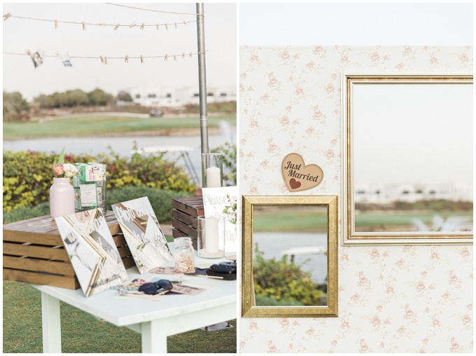 Dubai Wedding at The Address Montgomerie - Styled by Joelle at Lovely Styling. This wedding features mint green and blush pink with a touch of glittery gold.