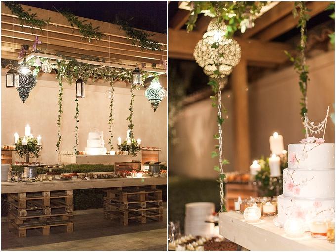 Furniture rentals for a rustic wedding