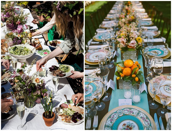 Inspiration for a outdoor summer wedding. Images from Pinterest.