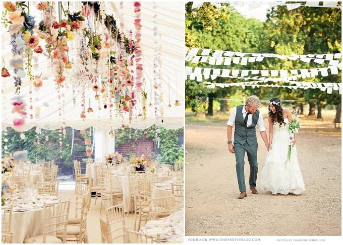 Bunting – A classic wedding decoration.