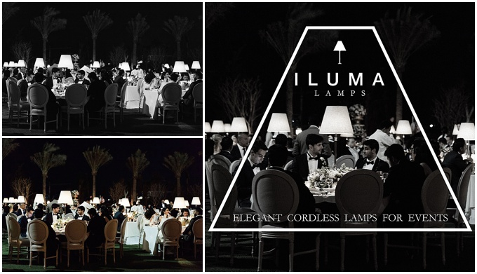 Introducing  Iluma Lamps – Pretty & creative lighting for UAE weddings