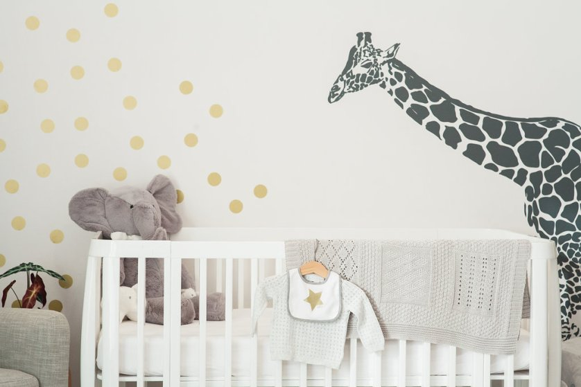 Nursery decor and a big baby bump…