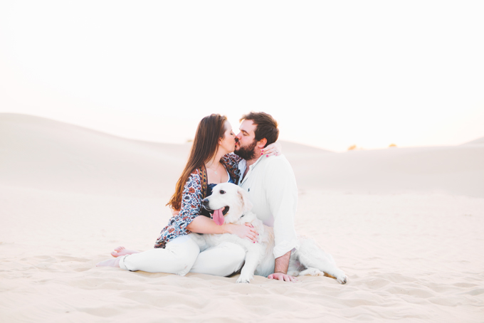 Desert Shoot by JVR Photography in Dubai - Couple shoot with a dog