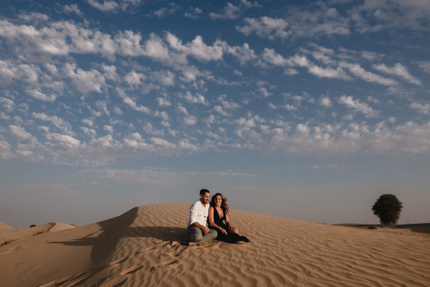 Honeymoon shoot in the Dubai Desert with Bernie + Bindi.
