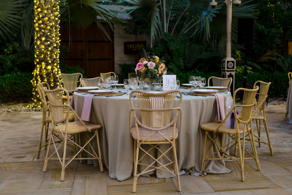 Beautiful outdoor wedding at Al Qasr Jumeriah. Styling + Decor by My Lovely Wedding in Dubai. Flowers by The Lovely Flowers Co.