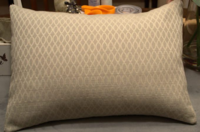 """DIY Throw Pillow with Envelope Pillow Cover"""