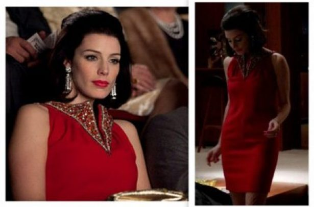 """Megan Draper in Red Shift Dress"""