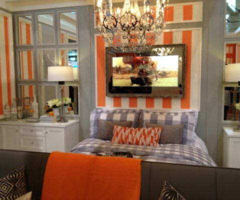 """Tangerine Tango Bedroom Inspiration"""