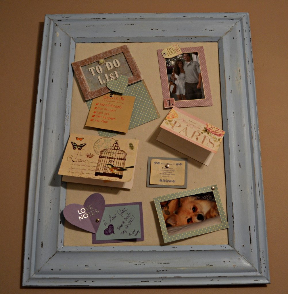 """DIY Distressed Cork Board"""