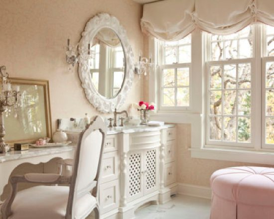 """Shabby Chic Bathroom and Vanity"""
