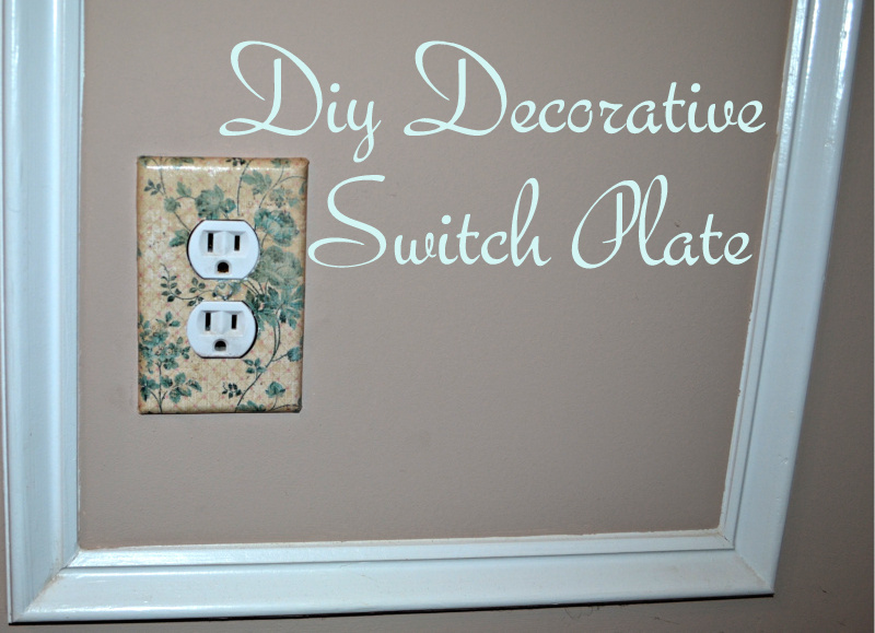 """Mod Podge Switch Plate Cover"""