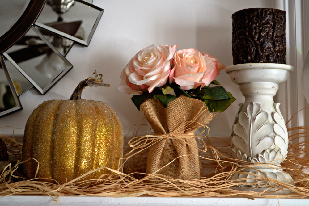 Burlap wrapped Flowers