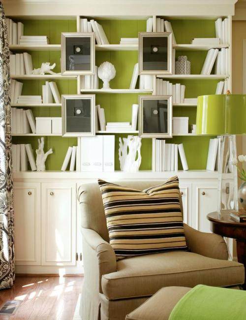 """Bright Chartreuse Bookcase Backing"""