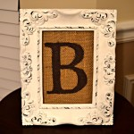 """diy Framed Monogram Burlap"""