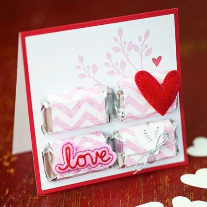 Candy Valentines Day Card