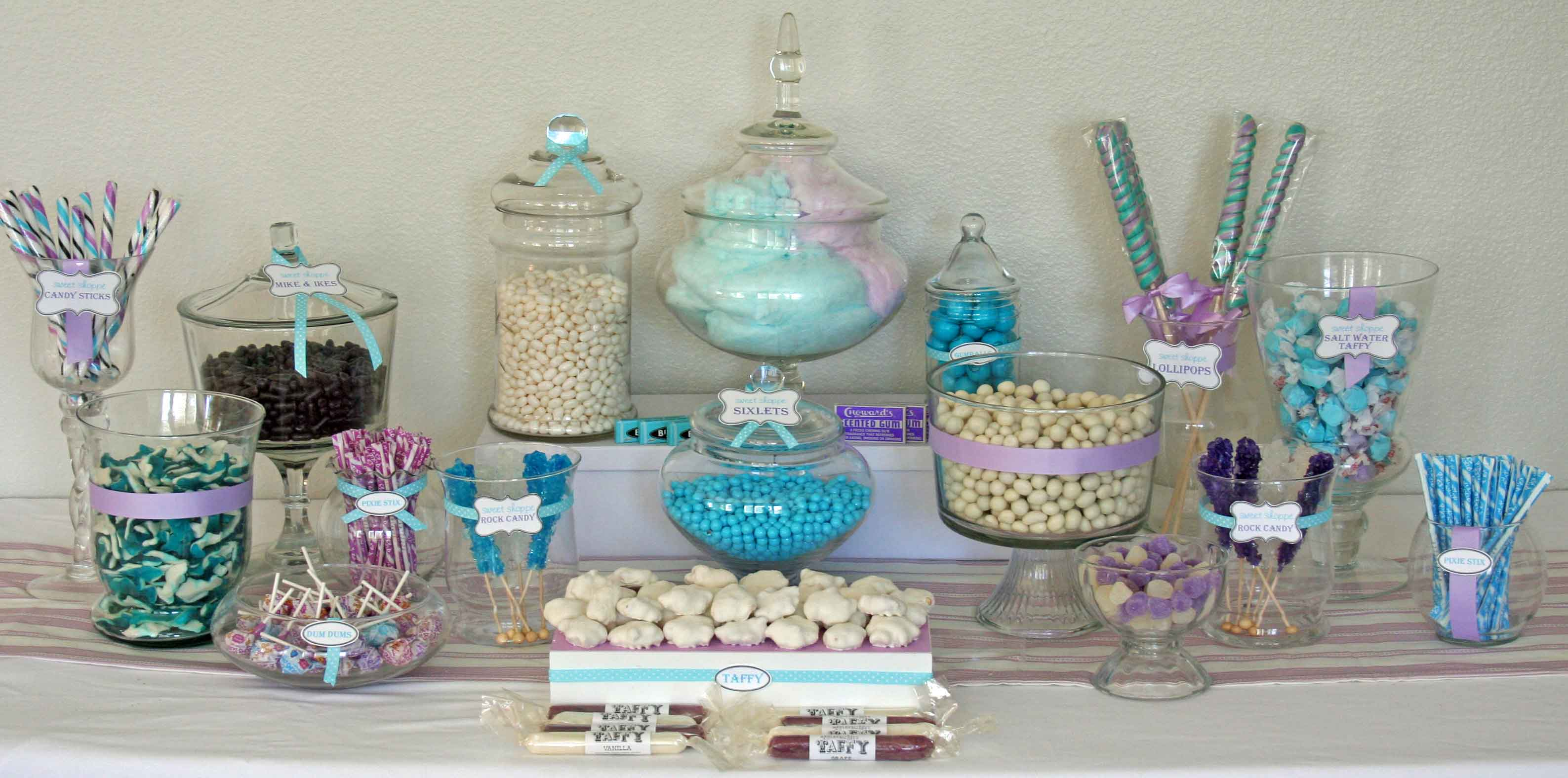 How to create the perfect diy candy buffet my love of style my blue purple and white candy buffet solutioingenieria Images