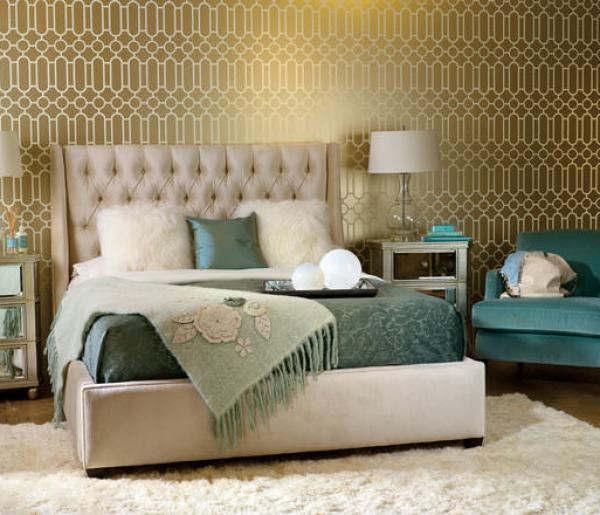 """Hollywood Regency Bedroom"