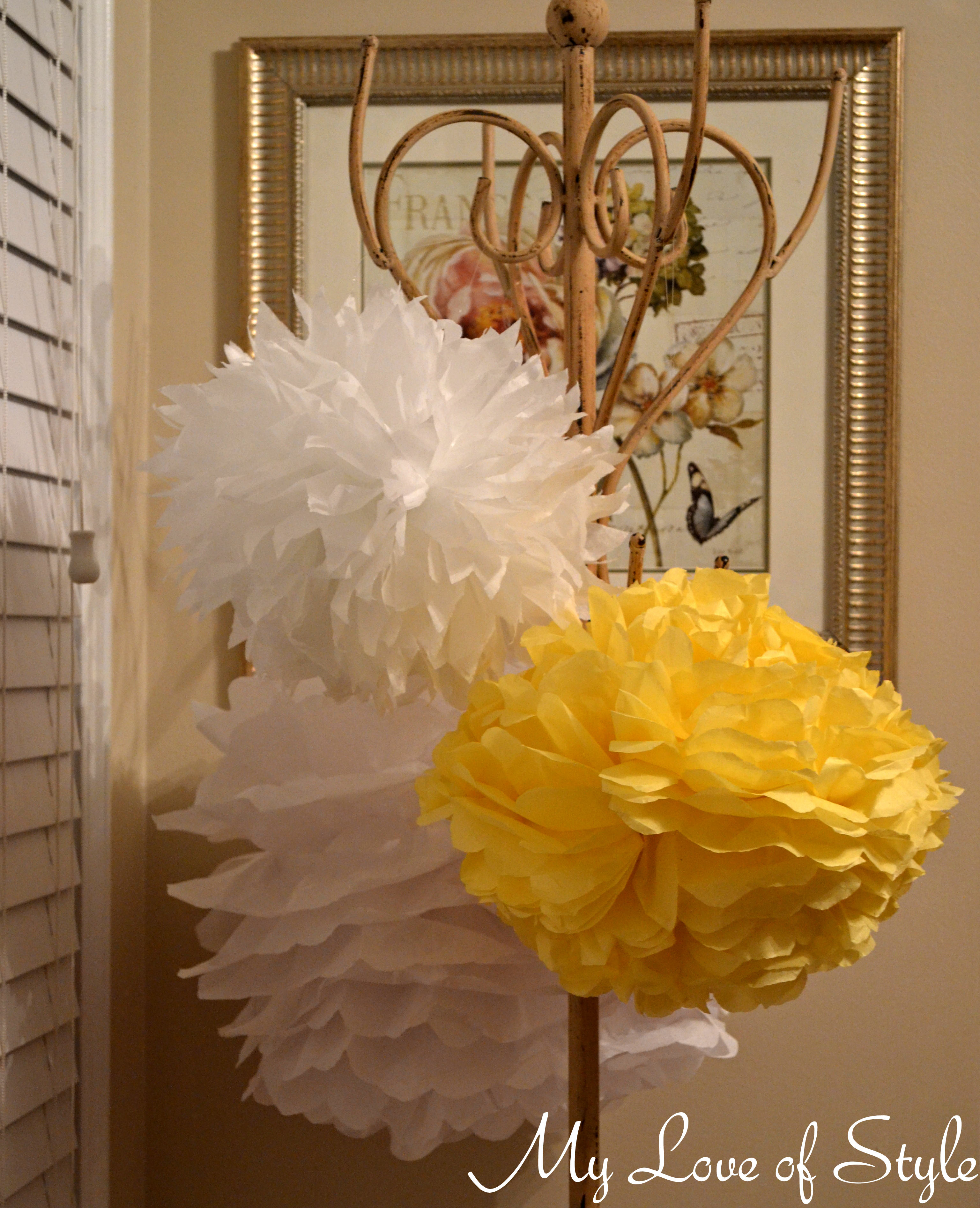 Diy Hanging Tissue Ball Tutorial My Love Of Style My Love Of Style