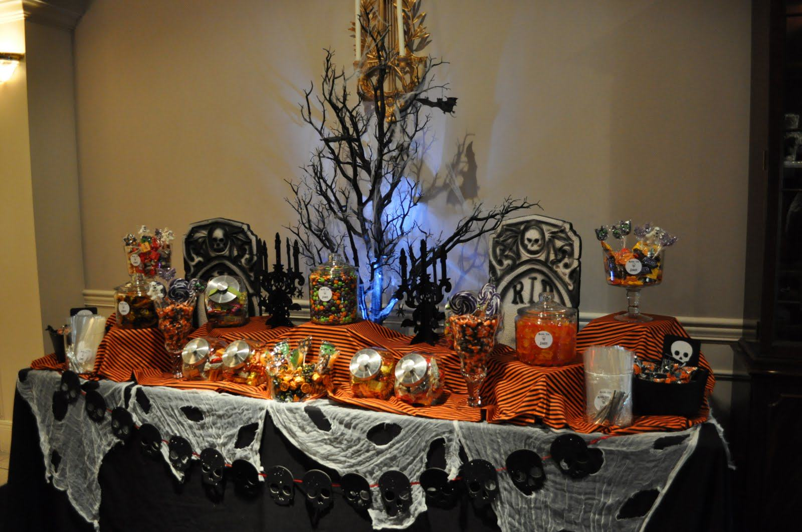 how to create a halloween candy buffet my love of style. Black Bedroom Furniture Sets. Home Design Ideas