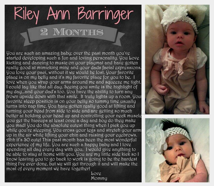 Baby Riley 2 Months old