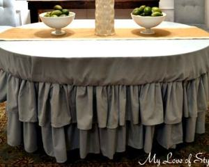 DIY Tiered Ruffle Tablecloth