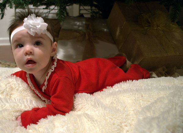 Baby Riley's first christmas