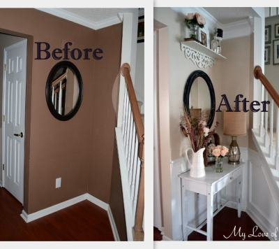 Foyer Makeover Before and After