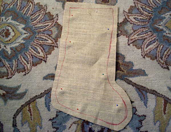 cut out stocking template
