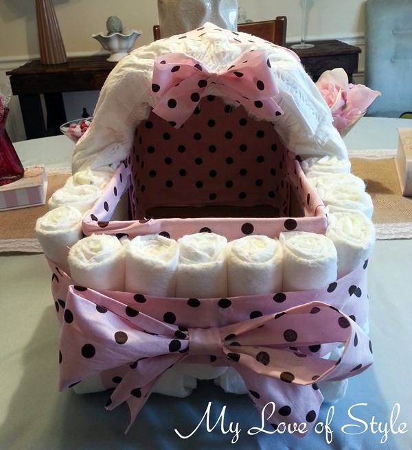 Diy Bassinet Diaper Cake Tutorial My Love Of Style