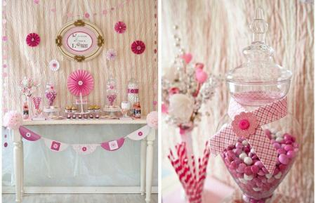Pink Valentines Candy Buffet