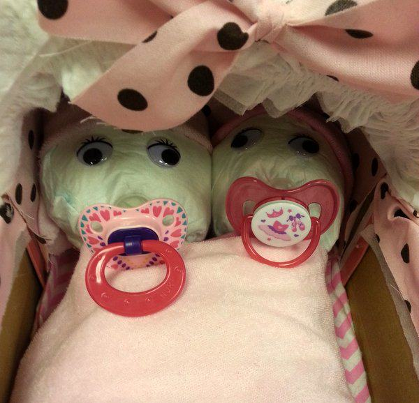 add paci's to babies face