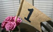 Burlap Table Number Flags