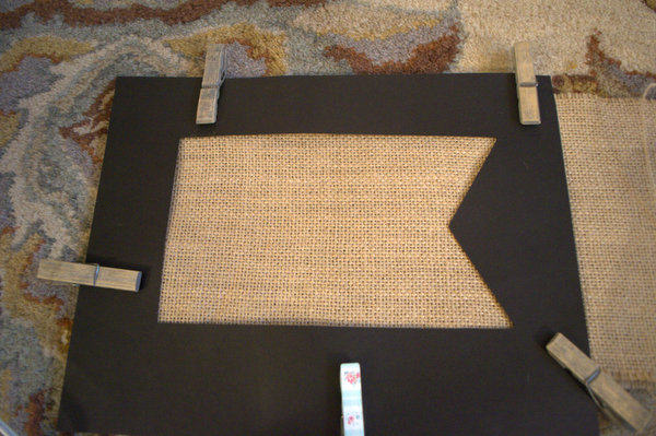 Pin Template to Burlap and trace