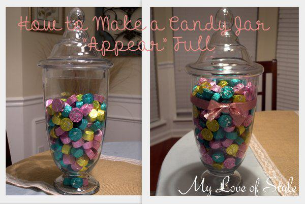 How to make a candy jar appear full